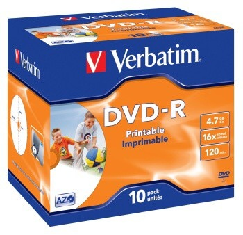 DVD-R Verbatim PRINTABLE 4.7GB, 16x, jewel case