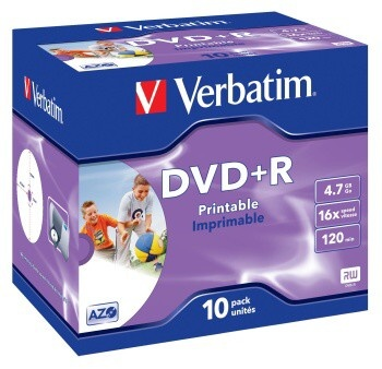 DVD+R Verbatim PRINTABLE 4.7GB, 16x, jewel case
