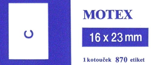 Etikety Motex     16x23 mm