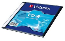 Verbatim CD-R 700MB, 52x, slim case